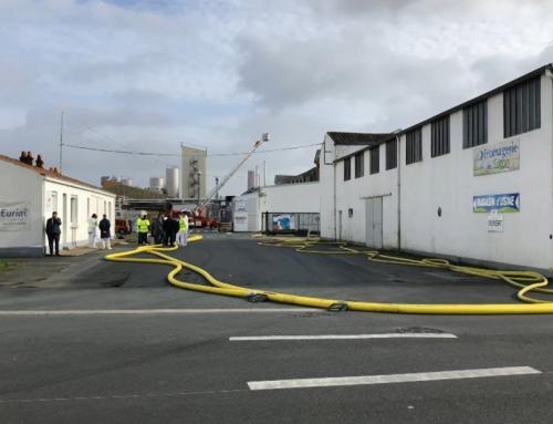 Un incendie sur le site Eurial de Luçon