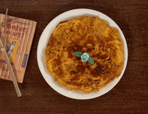 Omelette dessert au sucre de Grand-mère