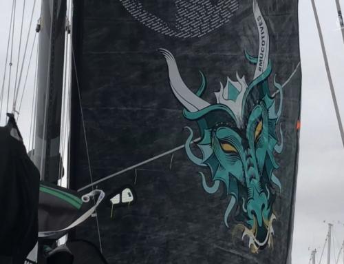 Vendée Globe : une voile dragon pour Maxime Sorel sur V and B