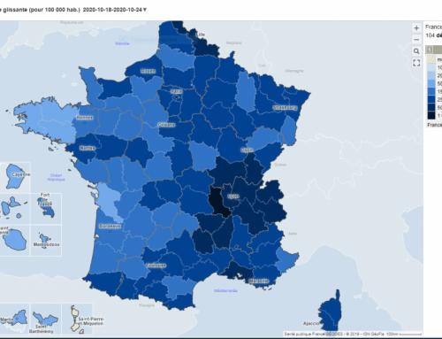 Géodes, un site pour visualiser la situation épidémiologique