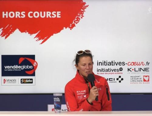 Conférence de presse de Sam Davies (Initiatives Coeur)