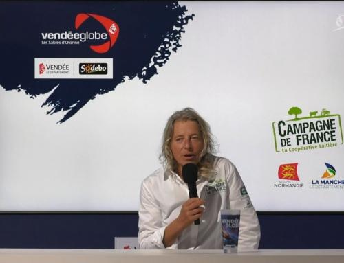Conférence de presse de Miranda Merron (Campagne de France)