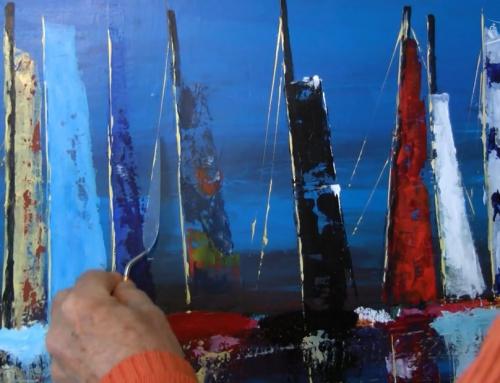 Daniel Bruneaux, peintre du littoral et du Vendée Globe