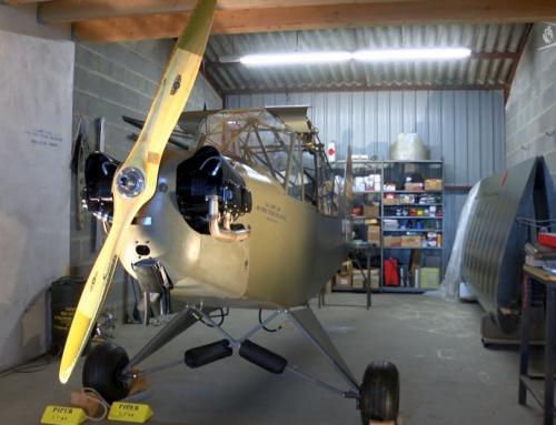 Patrimoine : la restauration du Piper L-4B est terminée