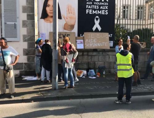 Obligation vaccinale : des soignants manifestent devant la Préfecture de la Vendée