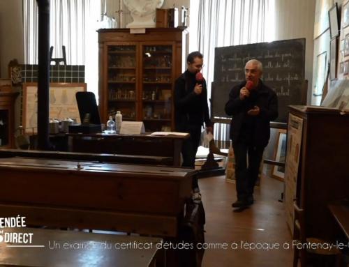Un examen du certificat d'études comme à l'époque à Fontenay-Le-Comte